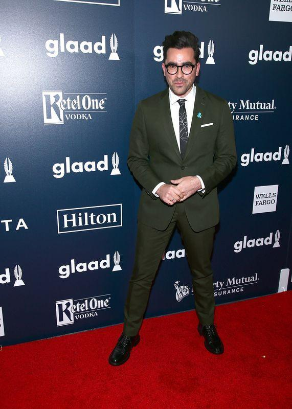 Dan Levy at the 28th annual GLAAD Awards in New York City on May 6, 2017.