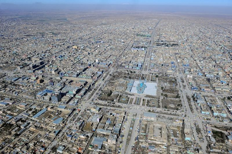 An aerial view of Mazar-i-Sharif in Afghanistan's Balkh province (AFP Photo/Noorullah Shirzada)