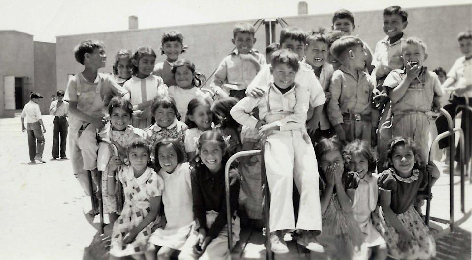 Students in 1947 at the Blackwell School in Marfa, Texas.