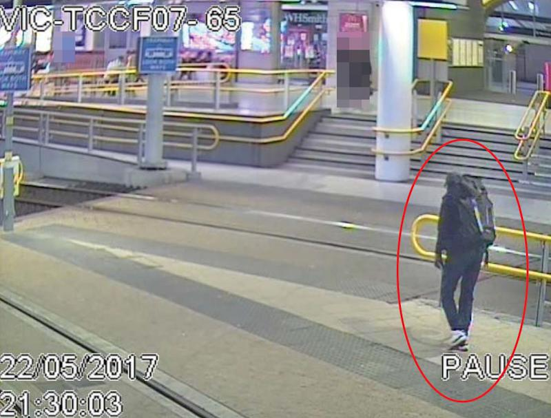 Salman Abedi pictured on CCTV in the build up to his attack. (PA Images)