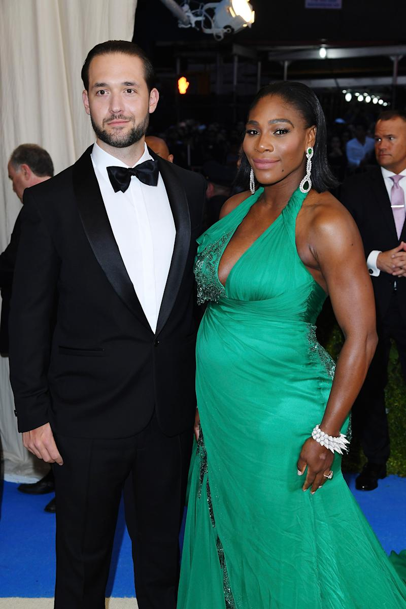 Serena Williams and Alexis Ohanian attend the Met Gala in May 2017. (Photo: Jackson Lee/FilmMagic)