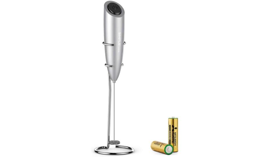 SIMPLETASTE Electric Milk Frother. (Image via Amazon)