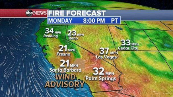 PHOTO: More wildfires could hit the Western U.S. today due to drier than average conditions. (ABC News)