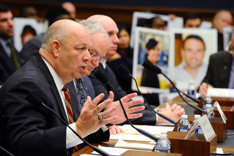Federal Aviation Administration (FAA) Administrator Stephen Dickson testifies before a House Transportation and Infrastructure Committee hearing at the Rayburn House office building in Washington