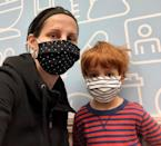 """<p><b>Moderna vaccine </b></p> <p><b>First shot: </b>I was one of the last people in my circle of family and friends to get vaccinated because of eligibility requirements in Massachussetts. When the time came to sign up, I was so excited that I got on my laptop at 3 a.m. just to see if I could score a coveted appointment. My daughter's school was preparing to reopen full-time so the protection felt even more necessary. On the day of the shot, my son came with me """"to hold your hand."""" I felt totally fine afterward. But about 5 days later I got legit COVID arm, a huge round/raised red bump surrounding the shot area and extending halfway down my arm! It was super itchy and the skin felt bizarrely hard, but it only lasted a few days.</p> <p><b>Second shot:</b> Having heard stories about the side effects of the second shot, I was worried. As a single parent, I can't exactly take a day off. My kids had to get to and from school, and there were meals to make, baths to give, remote piano lessons to coordinate. My shot was at 11 a.m. That night was rough—I couldn't sleep at all because of muscle aches. The bed literally hurt my body. The next morning I took ibuprofen and things got more manageable. I had prepared my kids for the fact that I might not be feeling well, and they were pretty good about keeping the whining and toy-throwing to a minimum. By late afternoon I was starting to feel bad again so we ordered pizza and they got to watch a movie. So now they're like,'When is your next shot?'</p>"""