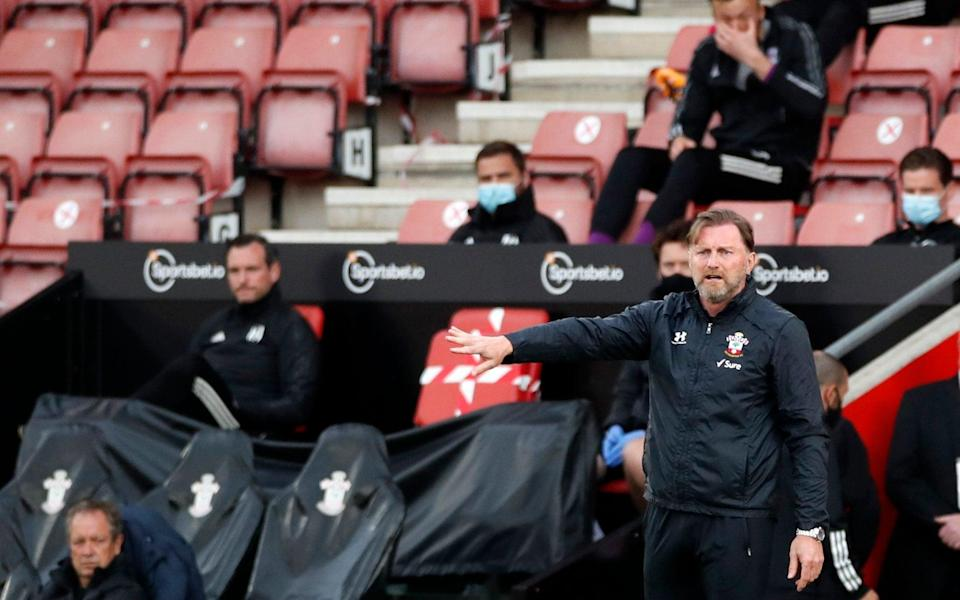 Ralph Hasenhuttl watches on from the sidelines - REUTERS