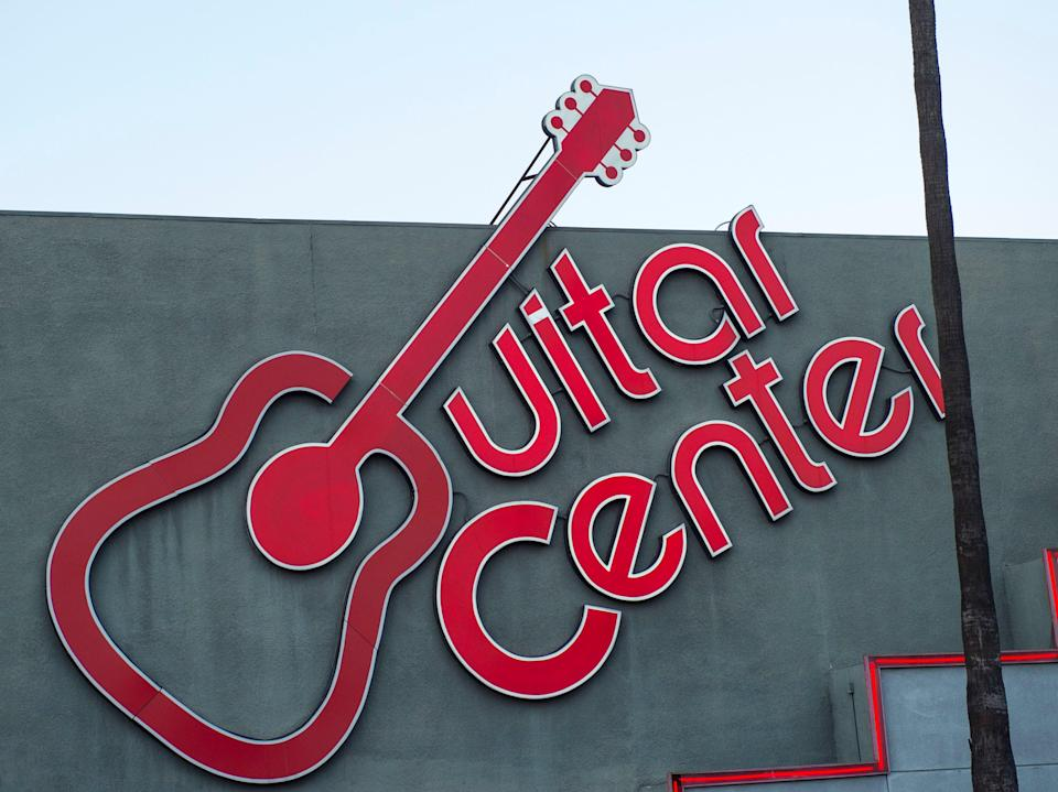 View of Guitar Center on Sunset Boulevard, on 6 December, 2017, in Hollywood, California (AFP via Getty Images)