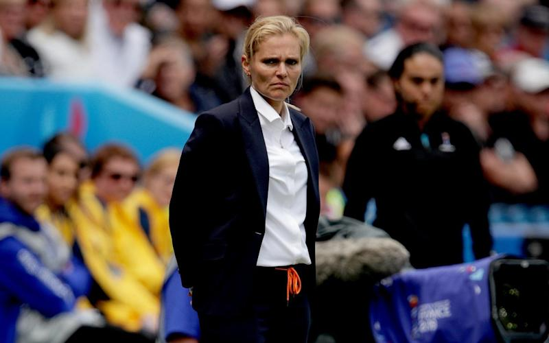 coach Sarina Wiegman of Holland Women during the World Cup Women match between New Zealand v Holland at the Stade Oceane on June 11, 2019 in Le Havre France