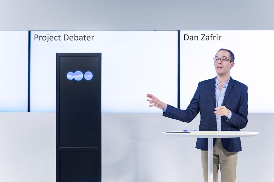 IBM's demoed Project Debater at an event in San Francisco on Monday evening. Source: IBM