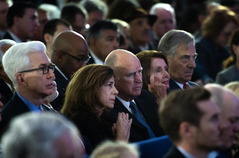 Gray Davis, Anne Gust Brown, Jerry Brown, Nancy Pelosi and Paul Pelosi
