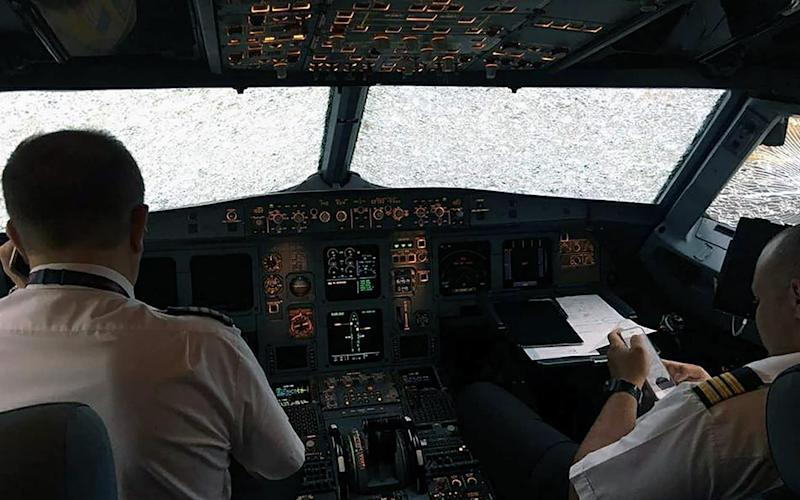 The view from the cockpit once the plane had landed - Credit: east2west