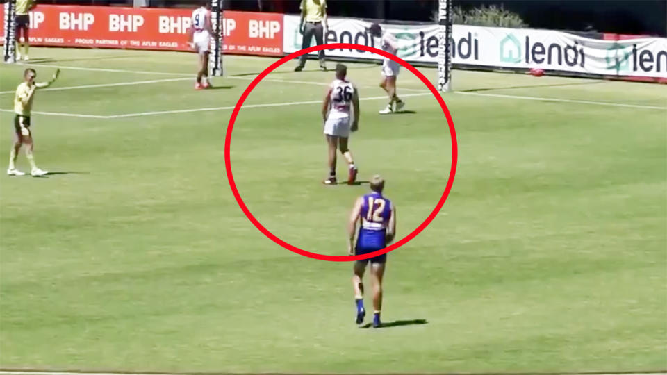 Fremantle Dockers and West Coast Eagles, pictured here during an AFL scratch match.