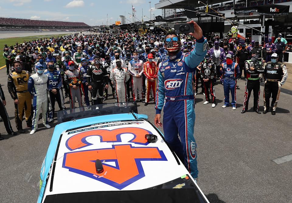 Monday was a major day in NASCAR history. (Photo by Chris Graythen/Getty Images)