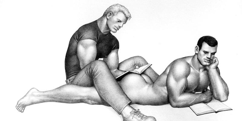 Photo credit: TOM OF FINLAND, Untitled, 1987, Graphite on paper, ©1987 Tom of Finland Foundation