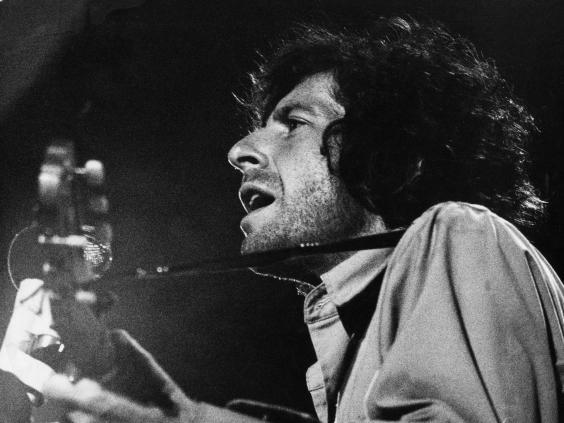 'A total gentleman': Leonard Cohen performing at the Isle of Wight Festival in 1970 (Rex)