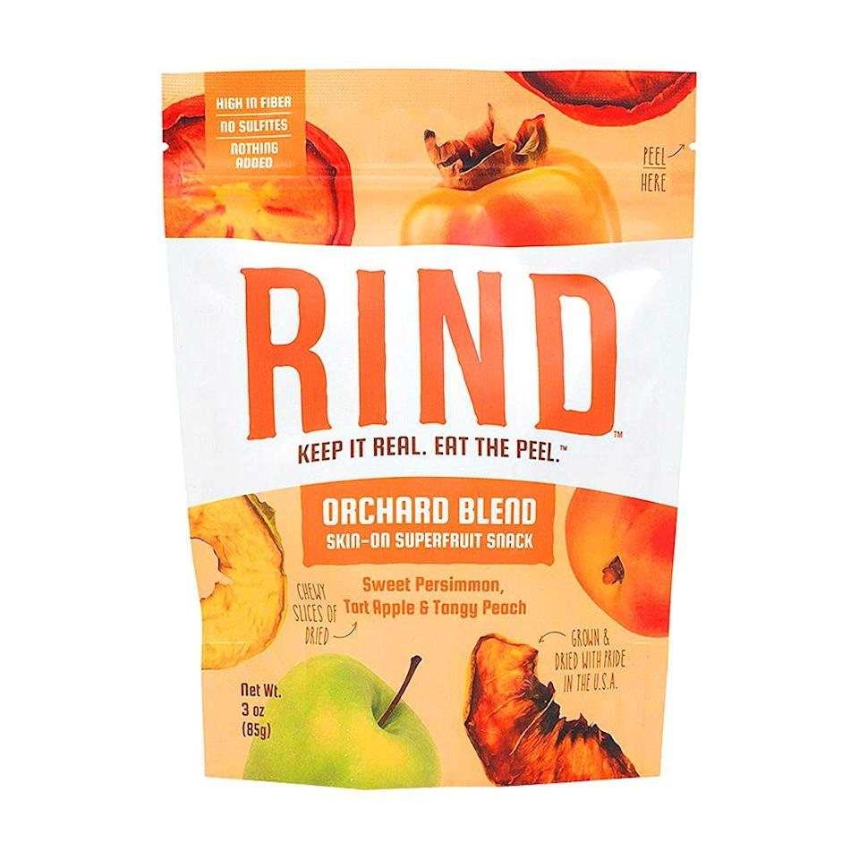 """<p><strong>RIND Snacks</strong></p><p>amazon.com</p><p><strong>$38.99</strong></p><p><a href=""""https://www.amazon.com/dp/B079NR8718?tag=syn-yahoo-20&ascsubtag=%5Bartid%7C2089.g.929%5Bsrc%7Cyahoo-us"""" target=""""_blank"""">Shop Now</a></p><p>These sun-ripened, skin-on fruit snacks from RIND top our list as one of the tastiest new snack foods of 2019. With more fiber and antioxidants thanks to the peel, these tangy and chewy snacks make a nutritious midday treat. </p><p><strong>More: </strong><a href=""""https://www.bestproducts.com/eats/g1133/best-juice-cleanse/"""" target=""""_blank"""">The Best Juice Cleanses for a Full-Body Detox</a><strong></strong> </p>"""