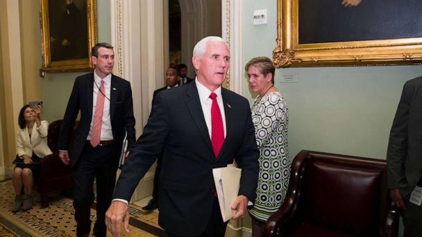 PHOTO: Vice President Mike Pence arrives for the Republican policy luncheon on Capitol Hill, May 7, 2019, in Washington. (Alex Brandon/AP)