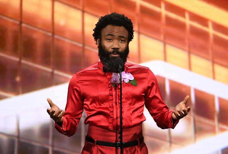 BEVERLY HILLS, CALIFORNIA - OCTOBER 25: Donald Glover speaks onstage during the 2019 British Academy Britannia Awards presented by American Airlines and Jaguar Land Rover at The Beverly Hilton Hotel on October 25, 2019 in Beverly Hills, California. (Photo by Kevin Winter/Getty Images for BAFTA LA)