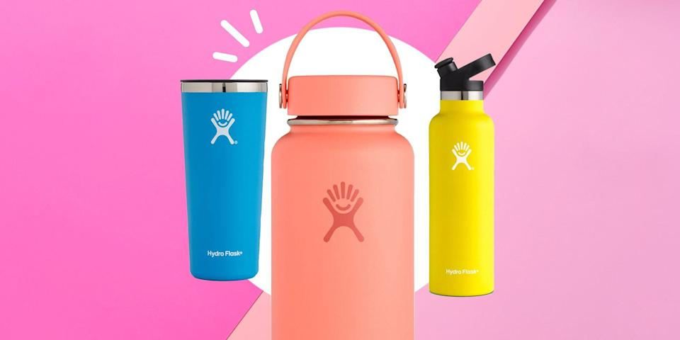 """<p>Believe it or not, summer is officially here. As the temps rise, it's especially important to<a href=""""https://www.runnersworld.com/nutrition-weight-loss/a32363766/how-to-hydrate/"""" rel=""""nofollow noopener"""" target=""""_blank"""" data-ylk=""""slk:stay hydrated"""" class=""""link rapid-noclick-resp""""> stay hydrated</a> on your runs. (I mean,<a href=""""https://www.womenshealthmag.com/uk/food/healthy-eating/a708773/dehydration-symptoms/"""" rel=""""nofollow noopener"""" target=""""_blank"""" data-ylk=""""slk:dehydration has been linked"""" class=""""link rapid-noclick-resp""""> dehydration has been linked</a> to everything from headaches, to fatigue, to bad breath.) </p><p>Fortunately, <a href=""""https://go.redirectingat.com?id=74968X1596630&url=https%3A%2F%2Fwww.hydroflask.com%2Ffeatured%2Fsale%3Fp%3D1&sref=https%3A%2F%2Fwww.runnersworld.com%2Fgear%2Fg32969897%2Fhydro-flask-sale-50-percent-off%2F"""" rel=""""nofollow noopener"""" target=""""_blank"""" data-ylk=""""slk:Hydro Flask"""" class=""""link rapid-noclick-resp"""">Hydro Flask</a> is here to help. The brand is known for making reusable water bottles with double-walled stainless steel insulation to keep your beverages warm for up to 12 hours or cold for as long as a full day. Recently, Hydro Flask restocked its sale section, so you can save as much as 50 percent on these cult-favorite bottles. In addition to standard water bottles, you can even snag glasses for your post-run cocktails or rosé. And trust us, you'll be using your Hydro Flask long after summer ends, too.<br></p>"""