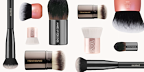 """<p class=""""body-dropcap"""">There are two kinds of people in this world (or at least two kinds of people reading this article): those who've heard of kabuki brushes but don't know how to use 'em, and those who use kabuki brushes all the time and had no idea they were called kabuki brushes. So now that we've all gathered here today, let's clarify a few things about this go-to <a href=""""https://www.cosmopolitan.com/style-beauty/beauty/how-to/a40310/makeup-brushes-how-to/"""" rel=""""nofollow noopener"""" target=""""_blank"""" data-ylk=""""slk:makeup brush"""" class=""""link rapid-noclick-resp"""">makeup brush</a> so we're all informed and on the same page.<br></p><h2 class=""""body-h2"""">What's a kabuki brush used for?</h2><p>I like to think of the kabuki brush as the <a href=""""https://www.cosmopolitan.com/style-beauty/beauty/g26149812/best-makeup-sponges-blenders/"""" rel=""""nofollow noopener"""" target=""""_blank"""" data-ylk=""""slk:beauty blending sponge"""" class=""""link rapid-noclick-resp"""">beauty blending sponge</a> of makeup brushes. Both were originally designed with one purpose in mind but have since evolved into multifunctional makeup applicators. Quick history lesson: Kabuki brushes were originally used in Kabuki Japanese drama theater to apply loose powder. These days, <strong>the brush has become a favorite applicator, not only for all kinds of loose and pressed powders, but also for cream and liquid formulas</strong>.</p><h2 class=""""body-h2"""">How do you use a kabuki brush?</h2><p>Because the dense, firm bristles can make this brush an easy one to struggle with, here are a few ways to use the kabuki brush next time you pick one up to do your makeup.<strong> Try buffing (short, curved strokes), swirling (circular motions), stippling (patting motions), sweeping (long, light strokes), and rolling (you know how to roll something)</strong>, depending on the formula you're trying to apply, the goal you're trying to achieve, and the shape of the kabuki brush you're using. </p><p>Oh, and you didn't know there were different"""