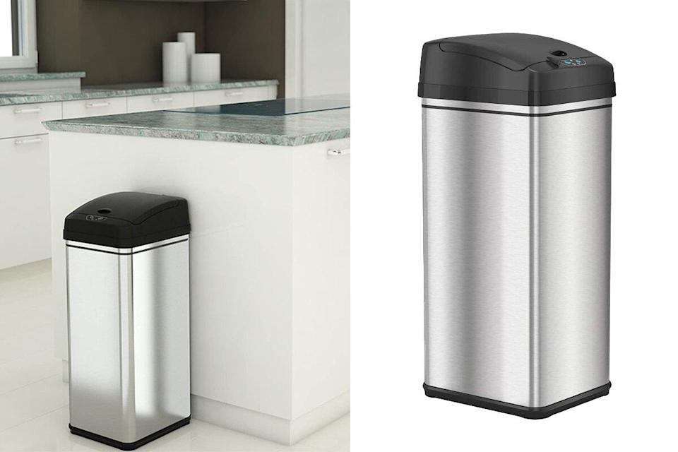 This Smart Trash Can With Nearly 18 000 Perfect Reviews Eliminates Odor And Has Motion Sensors For Easy Disposal