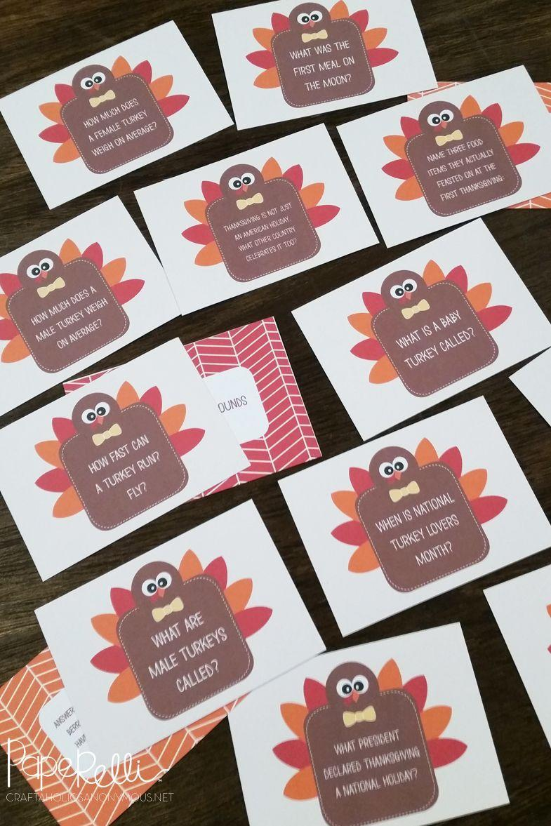 """<p>This trivia game is just the thing to pull out and play between courses at your <a href=""""https://www.countryliving.com/food-drinks/g637/thanksgiving-menus/"""" rel=""""nofollow noopener"""" target=""""_blank"""" data-ylk=""""slk:Thanksgiving dinner"""" class=""""link rapid-noclick-resp"""">Thanksgiving dinner</a>, or later in the night while you enjoy your <a href=""""https://www.countryliving.com/food-drinks/g1384/thanksgiving-desserts/"""" rel=""""nofollow noopener"""" target=""""_blank"""" data-ylk=""""slk:dessert spread"""" class=""""link rapid-noclick-resp"""">dessert spread</a>.</p><p><strong>Get the tutorial at <a href=""""http://www.craftaholicsanonymous.net/thanksgiving-table-craft"""" rel=""""nofollow noopener"""" target=""""_blank"""" data-ylk=""""slk:Craftaholics Anonymous"""" class=""""link rapid-noclick-resp"""">Craftaholics Anonymous</a>.</strong></p><p><a class=""""link rapid-noclick-resp"""" href=""""https://www.amazon.com/Neenah-Bright-Cardstock-Sheets-90905/dp/B003A2I5T8/?tag=syn-yahoo-20&ascsubtag=%5Bartid%7C10050.g.4698%5Bsrc%7Cyahoo-us"""" rel=""""nofollow noopener"""" target=""""_blank"""" data-ylk=""""slk:SHOP CARDSTOCK PAPER"""">SHOP CARDSTOCK PAPER</a></p>"""