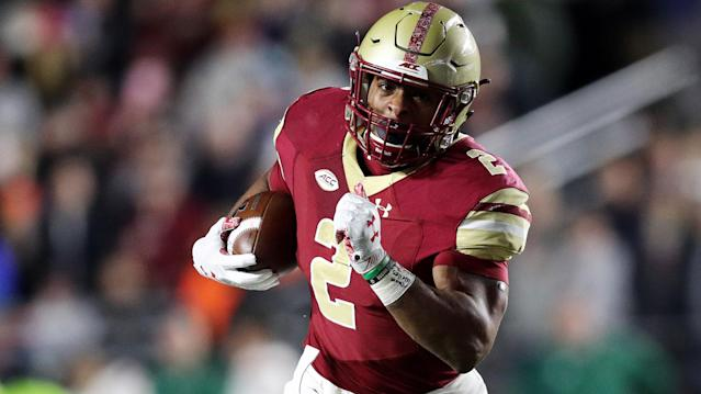 Hayden Winks projects where the 2020 running backs will be drafted. Plus notes on D'Andre Swift, Jonathan Taylor, Travis Etienne, and other prospects. (Getty Images)