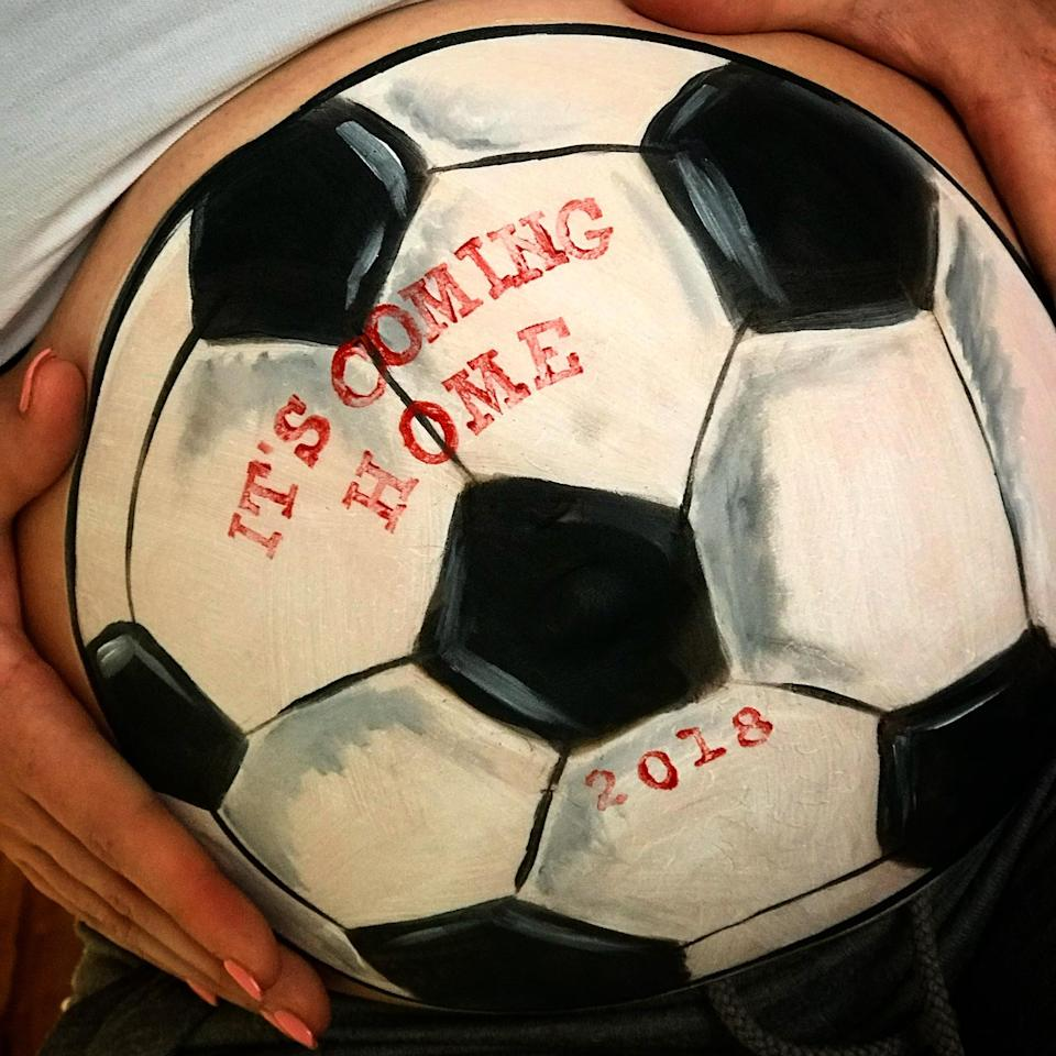 Many women surprise their partners with sports-themed designs. (Jo Peters)