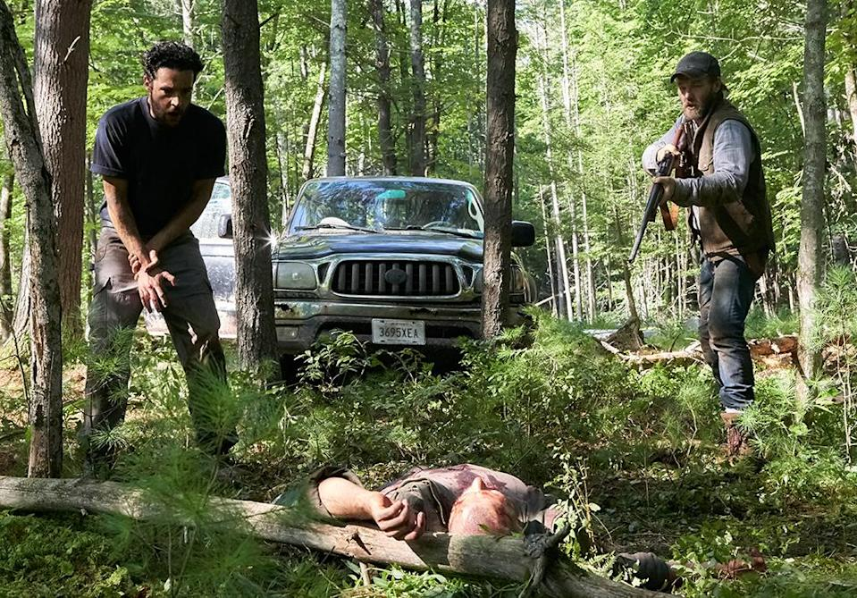<p>Something's lurking in the woods in Trey Edward Shultz's follow-up to last year's critical darling <i>Krisha</i>. Although it's the madness inside the film's remote-cabin setting — where Joel Edgerton's family is holed up, alongside a stranger's clan — that truly leads to terror in this claustrophobic, slow-burn thriller. —<i>N.S.</i> (Photo: A24)<br><br></p>