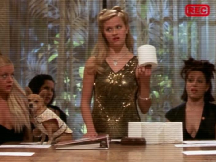 """Reese Witherspoon in """"Legally Blonde."""""""