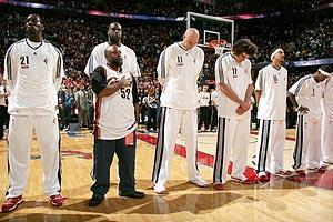 The Cavs invited Raymond Towler to share the court with them before Game 5 of the Eastern Conference semifinals