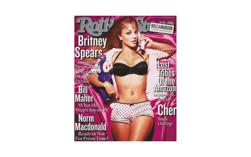 <p>The pop star graced the cover of Rolling Stone magazine back in 1999 at just 17-year-old.<em> [Photo: Rolling Stone]</em> </p>