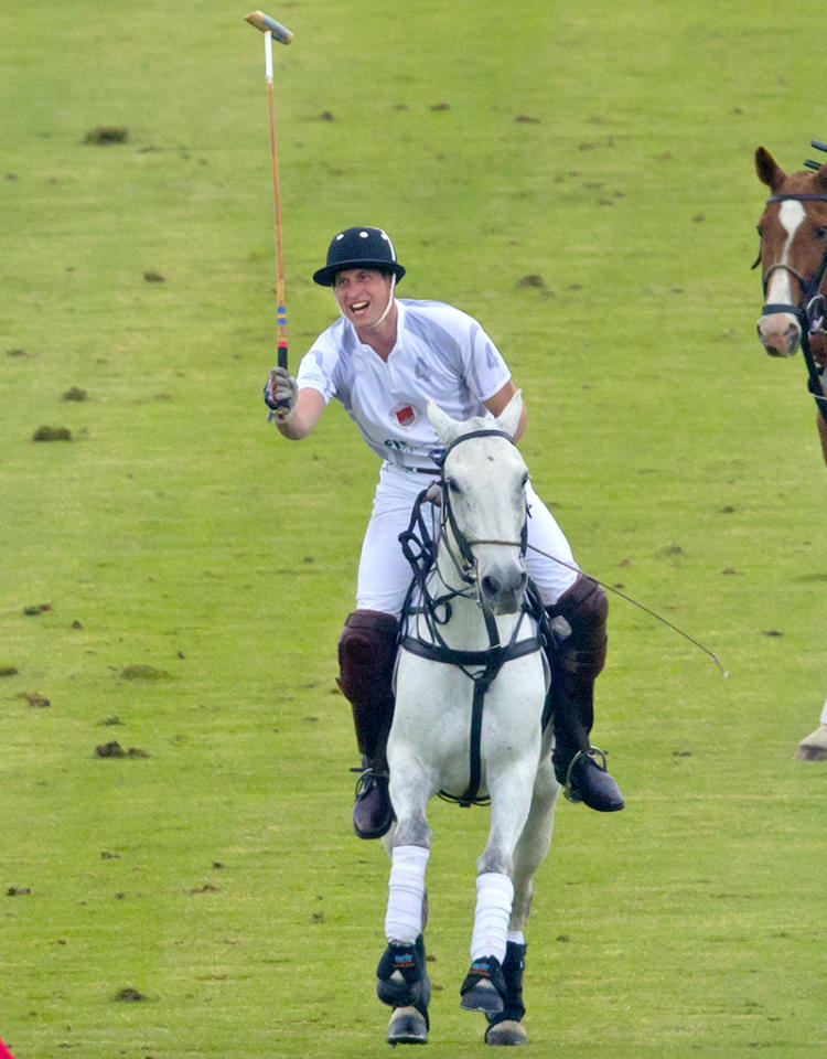 Before it's time for late-night feedings and diaper changes (wait, do the royals have to do that?) Prince William got in a last round of polo when he participated in the Audi Polo Challenge at Chester Racecourse in Chester, England, on Wednesday. His wife Kate Middleton, who's due with the couple's first child in July, skipped the outing and stayed home. (5/29/2013)