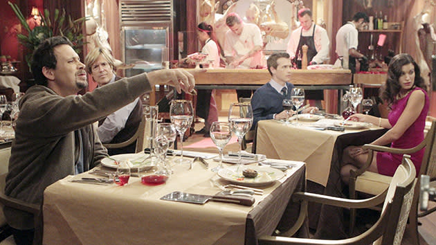 "SUBURGATORY - ""Blowtox and Burlap"" - When Tessa convinces Ryan to attend an art house movie with her on Valentine's Day, their reactions to the movie surprise her. Sheila's mother, Gam Gam (Mary Kay Place), pays the Shays a visit, causing friction between Fred and Sheila. Her visit also spurs Sheila to try to get Malik back together with Lisa. Meanwhile, Dallas has a bad reaction to a cosmetic procedure, and George has to enjoy an 18-course meal from renowned Chef Julio (Michael Voltaggio) solo, on ""Suburgatory,"" WEDNESDAY, FEBRUARY 13 (9:31-10:00 p.m., ET) on the ABC Television Network."