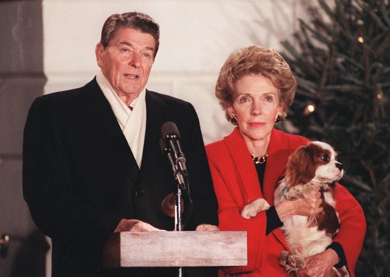 Former president Ronald Reagan, seen here with wife Nancy, rose from Hollywood to the White House