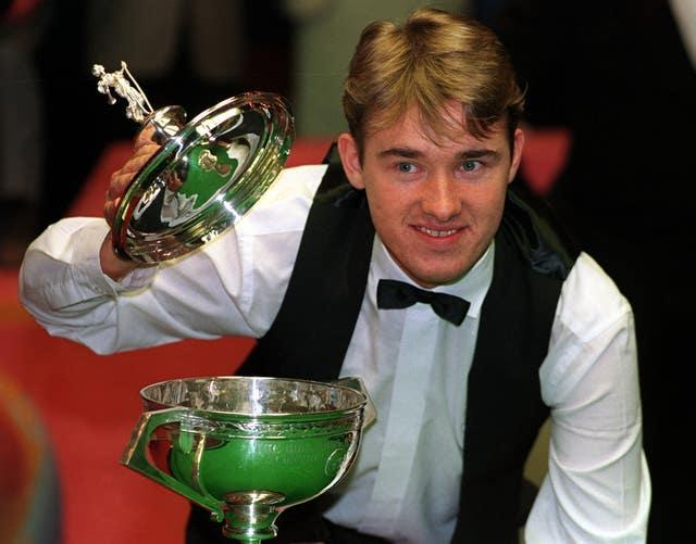 Hendry made it three in a row against Jimmy White in 1993 (Malcolm Croft/PA)