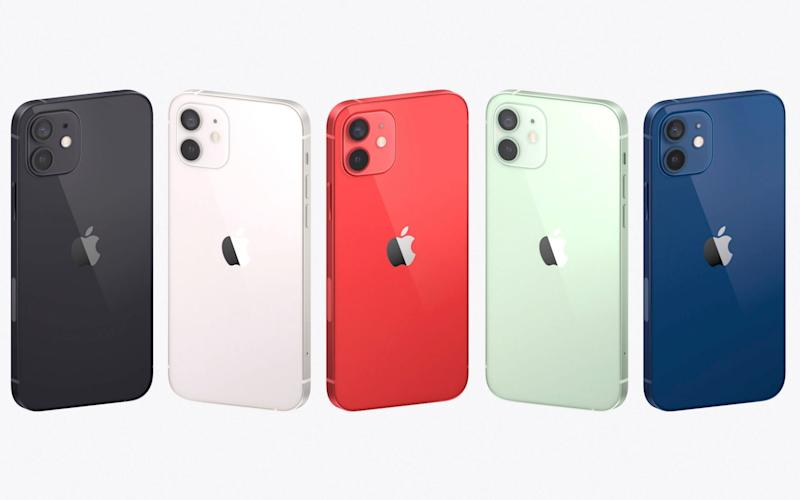 The new range of iPhone 12 colours - Apple