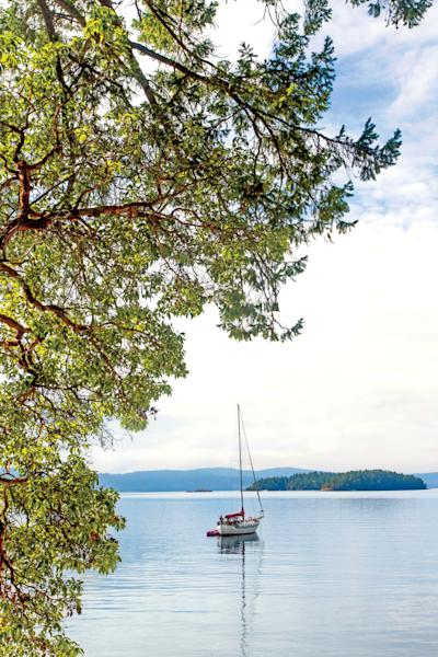 Just north of the Canadian border, the Gulf Islands are a rich playground of food, art, and the good life.