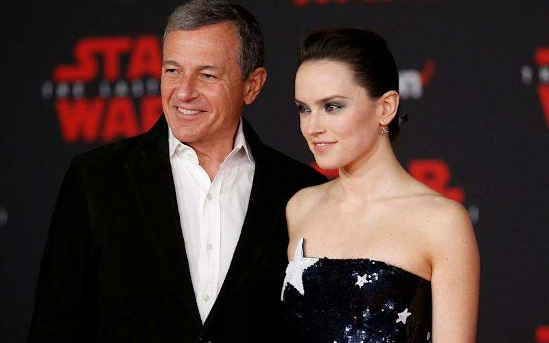 Disney chief executive Bob Iger at the premiere of Star Wars: The Last Jedi with star Daisy Ridley - REUTERS