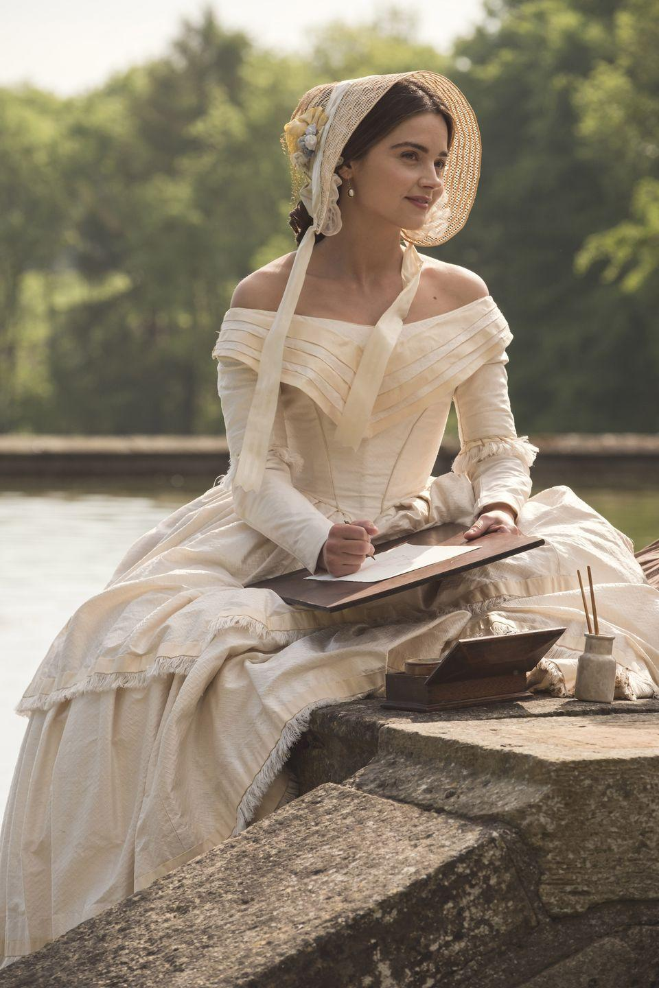 """<p>Laoghaire MacKenzie is one of the most-hated characters in the <em>Outlander</em> canon, so it will come as a shock to see actress Nell Hudson playing Queen Victoria's dutiful maid Mrs. Skerrett in <em><a href=""""https://www.townandcountrymag.com/leisure/arts-and-culture/a26518700/victoria-season-4/"""" rel=""""nofollow noopener"""" target=""""_blank"""" data-ylk=""""slk:Victoria"""" class=""""link rapid-noclick-resp"""">Victoria</a></em>. The Masterpiece PBS series about the British monarch's early reign is worth a watch for Hudson's performance, for the <a href=""""https://www.townandcountrymag.com/society/tradition/a26452844/how-did-prince-albert-die/"""" rel=""""nofollow noopener"""" target=""""_blank"""" data-ylk=""""slk:ill-fated romance between Victoria and her Albert"""" class=""""link rapid-noclick-resp"""">ill-fated romance between Victoria and her Albert</a>, and for the gorgeous costumes. </p><p><a class=""""link rapid-noclick-resp"""" href=""""https://www.amazon.com/Victoria-Season-3/dp/B07L7QHN52?tag=syn-yahoo-20&ascsubtag=%5Bartid%7C10067.g.28484672%5Bsrc%7Cyahoo-us"""" rel=""""nofollow noopener"""" target=""""_blank"""" data-ylk=""""slk:Watch Now"""">Watch Now</a></p>"""