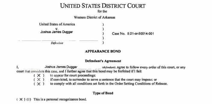 (Screenshot: United States District Court for the Western District of Arkansas)