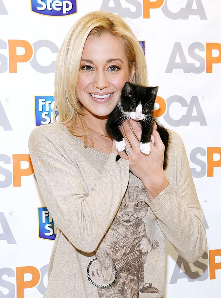 """<p>In honor of Cat Appreciation Month this February, country singer and cat lover Kellie Pickler teamed up with fashion designer Geren Ford and Fresh Step litter to design a limited edition """"Kitty  Crooner"""" sweater. She showed it off recently at the ASPCA Adoption Center to help increase awareness of homeless cats and <a target=""""_blank"""" href=""""http://www.aspcaonlinestore.com/products/119142-kitty-crooner-limited-edition-sweater-designed-by-kellie-pickler-and-geren-ford-for-fresh-step-litter"""">raise money for the ASPCA</a>. The sweater is cute, but the kitten is cuter! </p>"""