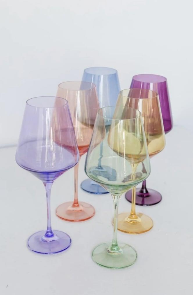 <p>Who wouldn't want to receive this gorgeous <span>Estelle Colored Wine Stemware (Set of 6)</span> ($175)?</p>