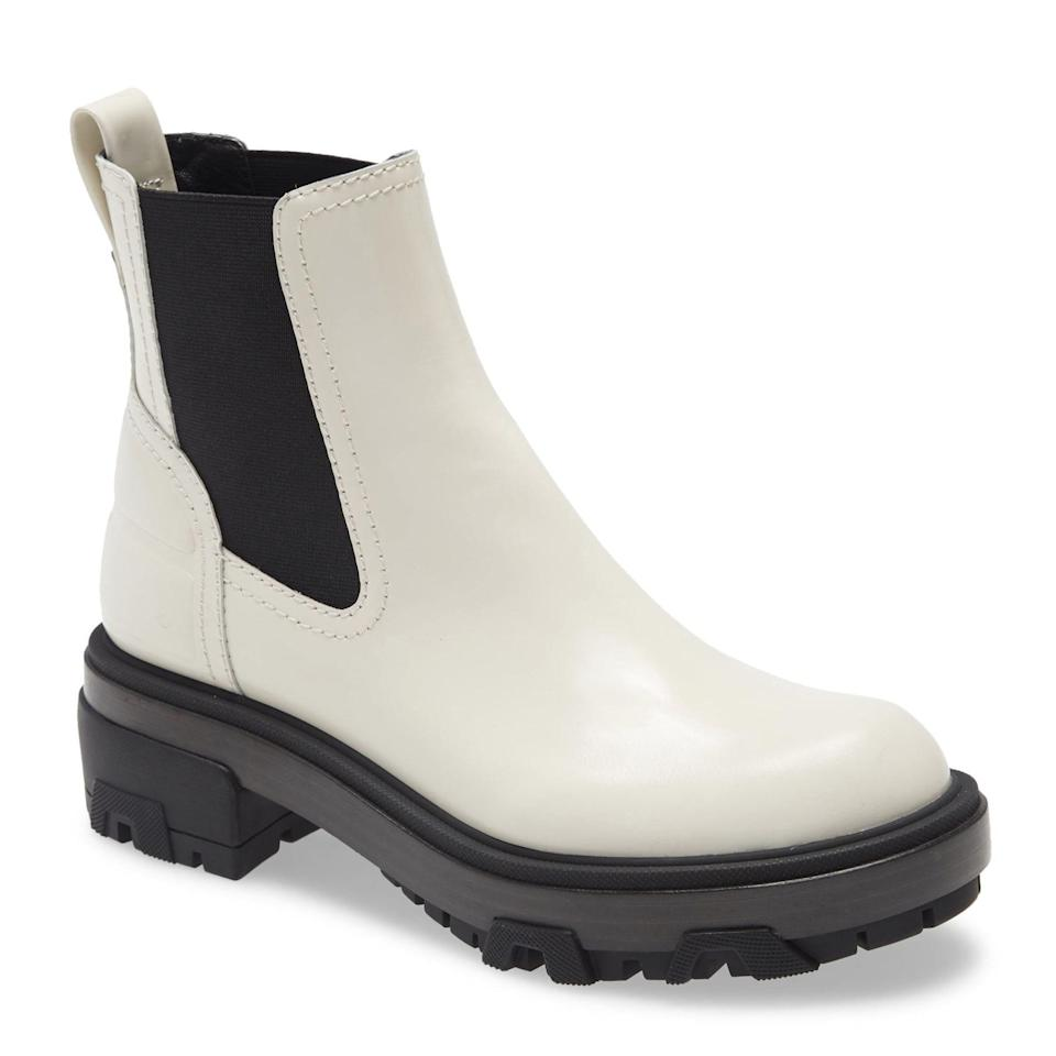 """This rounder style from Rag & Bone is also available in black, if winter whites aren't your thing. $525, Nordstrom. <a href=""""https://www.nordstrom.com/s/rag-bone-shaye-lug-sole-chelsea-boot-women/5833663"""" rel=""""nofollow noopener"""" target=""""_blank"""" data-ylk=""""slk:Get it now!"""" class=""""link rapid-noclick-resp"""">Get it now!</a>"""