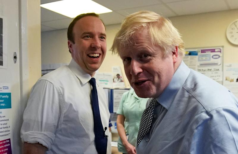 Matt Hancock and Boris Johnson have both contradicted SAGE evidence about asymptomatic coronavirus transmission at the beginning of the outbreak. (Christopher Furlong/pool via Reuters)