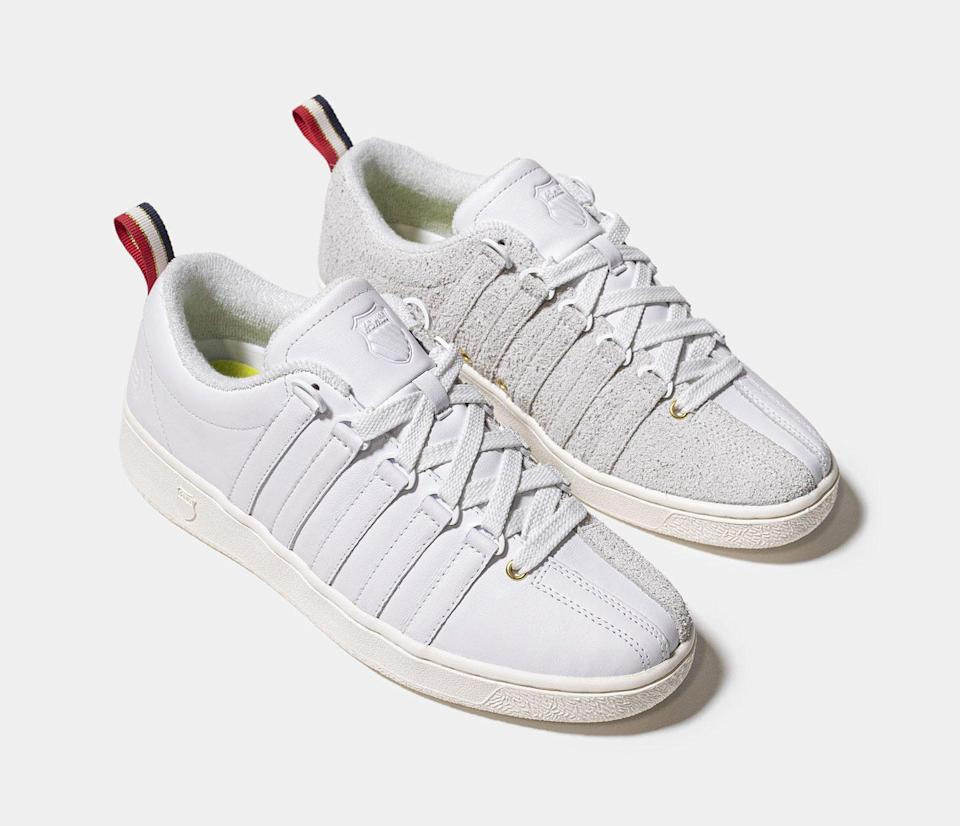 K-Swiss and Extra Butter's Classic LX sneakers. - Credit: Courtesy of K-Swiss