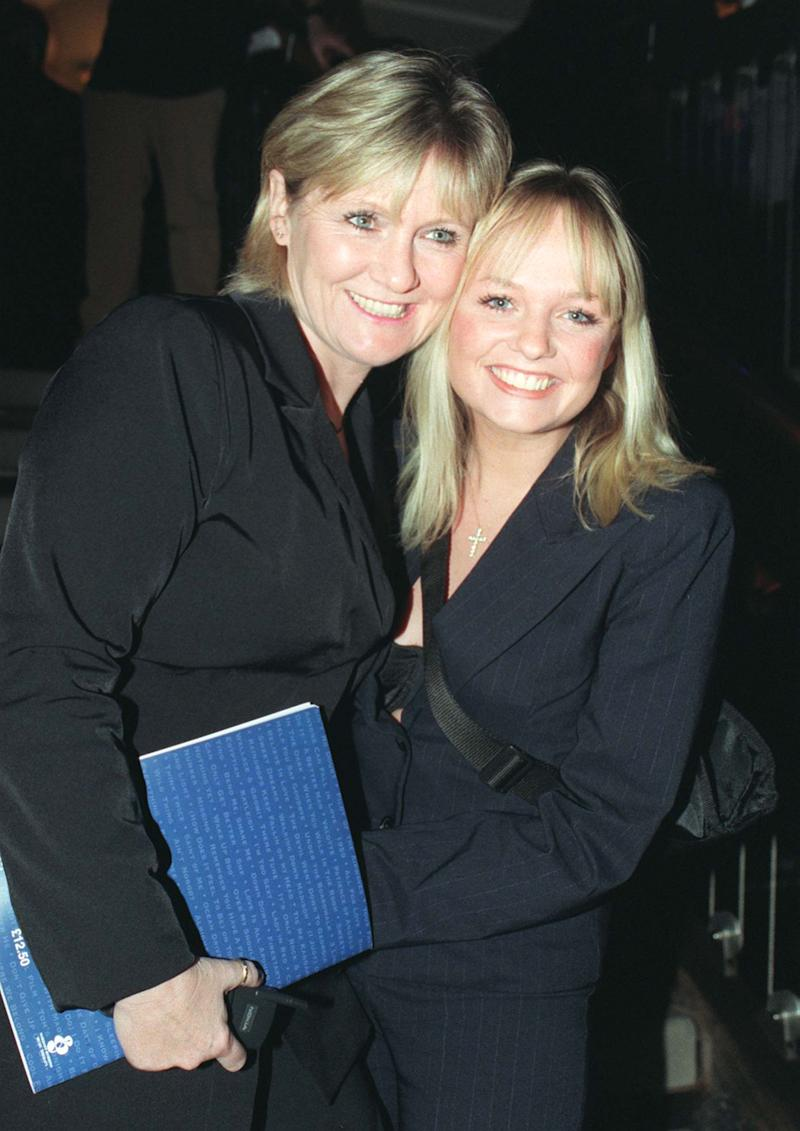 Baby Spice Emma Bunton & her mother Pauline, at the 'Hits Under The Hammer' auction of song lyrics. Over 200 lyrics, hand-written & signed by renowned artists, are to be sold, in aid of Nordoff-Robbins Music Therapy & Norwood Ravenswood children's charities. (Photo by Neil Munns - PA Images/PA Images via Getty Images)
