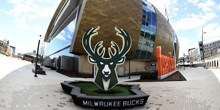 "Fiserv Forum, home of the Milwaukee Bucks, in Milwaukee, Wisconsin. <p class=""copyright"">Stacy Revere/Getty Images</p>"