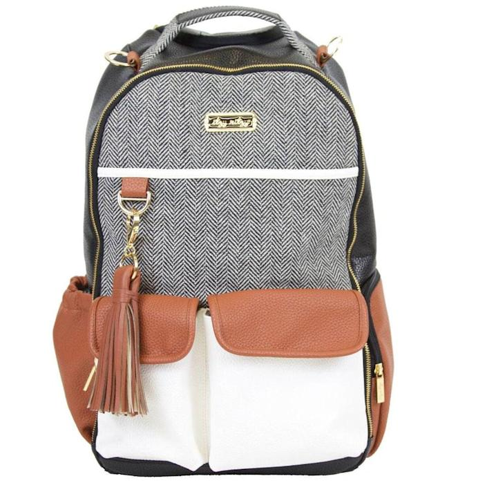 <p>The <span>Infant Itzy Ritzy Diaper Bag Backpack</span> ($150) has a faux-leather trim for easy clean up.</p>