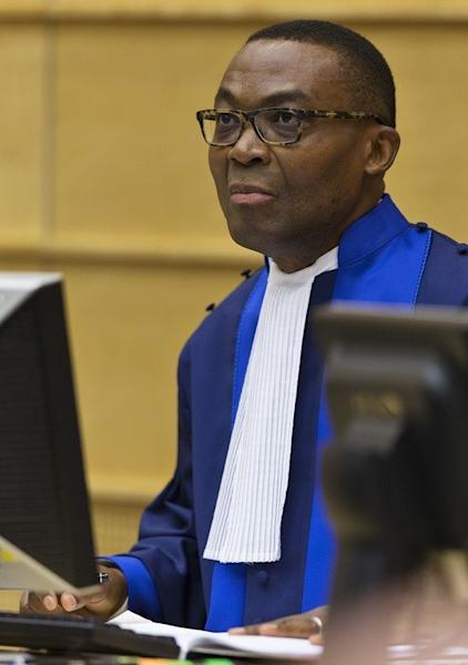Judge Chile Eboe-Osuji sits in the courtroom before the trial against William Ruto at the International Criminal Court in The Hague on September 10, 2013